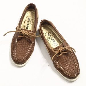 Sperry | Leather Woven Topsider Loafers/Flats